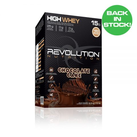 High Whey 15lb Chocolate Cake flavour Back in Stock